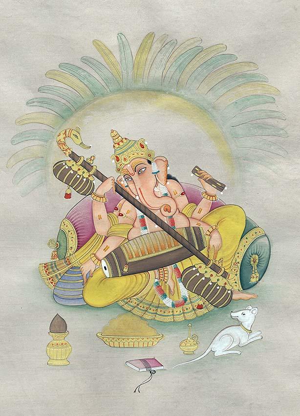 Ganesha's Association with Saraswati