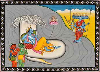 Shesha-shayi Vishnu, Madhu-Kaitabha and Adishakti