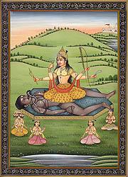 Mahavidya Shodashi (Tripura Sundari) as Visualized in Her Dhyana Mantra