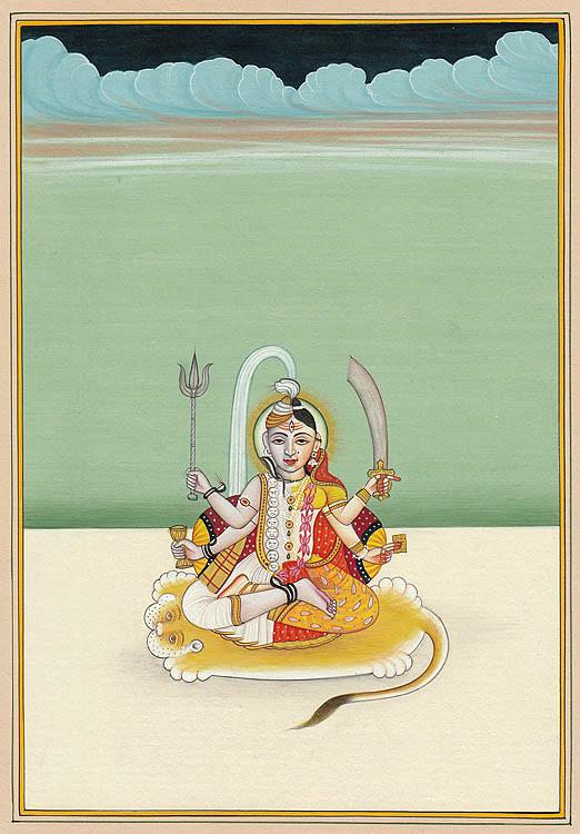Brahma with Saraswati, Vishnu with Lakshmi