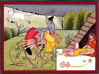 Parashurama Kills Kartavirya to Avenge His Father's Death
