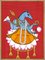 Lord Vishnu as Hayagriva