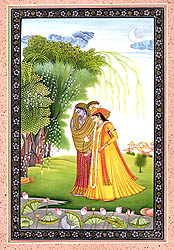 Radha and Krishna with Their Dresses Exchanged