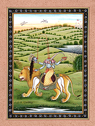 Goddess Chhinnamasta Riding Lion