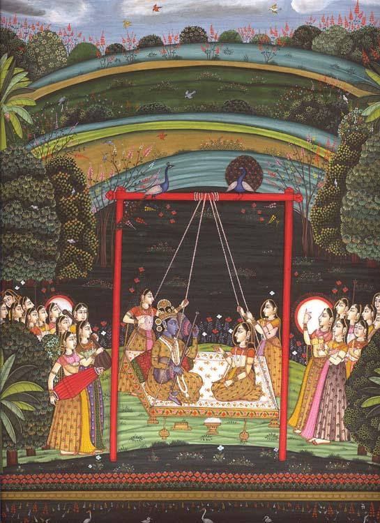 Krishna as Raga Hindola