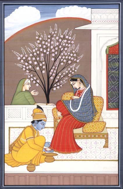 Krishna at Her Feet!