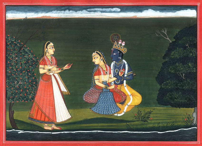 Krishna with Radha and Gopi (Gita Govinda Series)