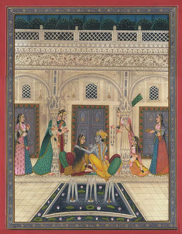 Radha Krishna in the Kishangarh Idiom