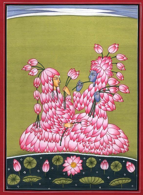 Radha and Krishna in Lila-hava