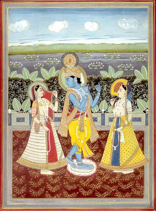 Radha Krishna with Companion