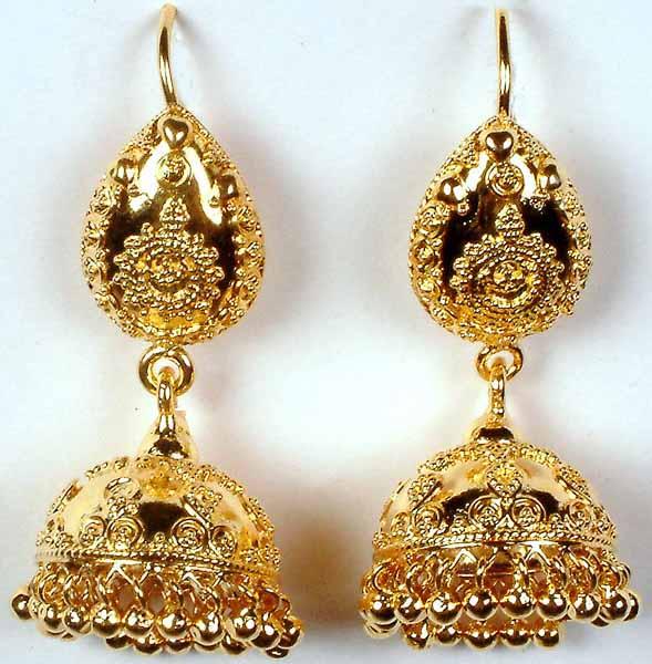Jhumka earrings india tanishq