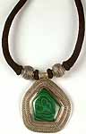 Malachite Necklace With Black Cord