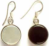 Shell and Black Onyx Double Sided Earrings