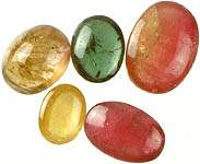 Set of Five Tourmaline Ovals
