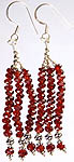 Israel Cut Garnet Shower Earrings