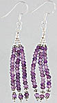 Israel Cut Amethyst Shower Earrings