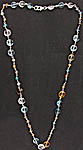 Gemstone Necklace (Rose Quartz, Blue Topaz, Citrine and Orange Quartz)