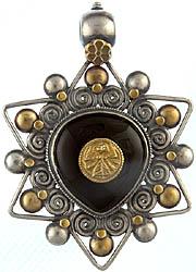Goddess Kali Black Onyx Large Pendant