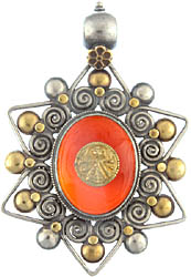 Goddess Kali Carnelian Large Pendant
