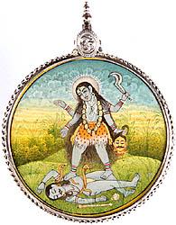 Goddess Kali Large Pendant