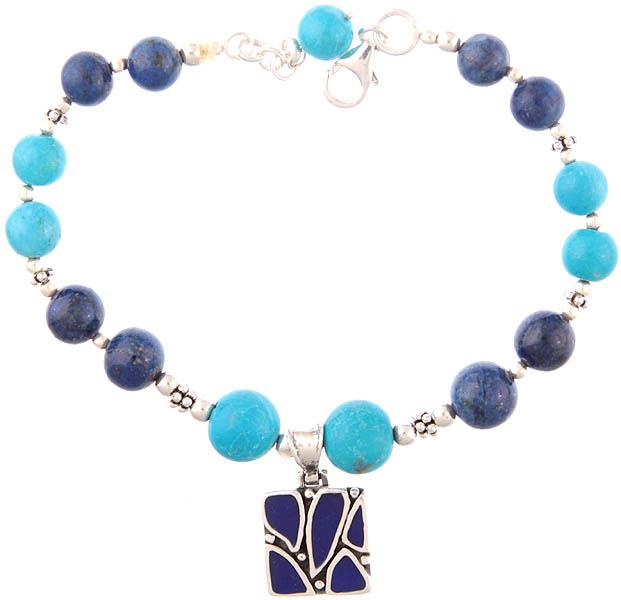 Turquoise and Lapis Lazuli Bracelet