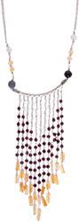 Gemstone Chandelier Necklace (Black Onyx, Rose Quartz, Yellow Aventurine and Garnet)