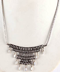 Dangling MOP Necklace