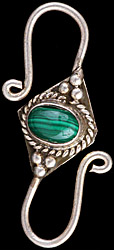 Malachite S Jewelry-Clasp (Price Per Piece)