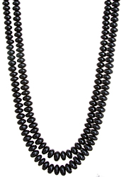 Two Strand Black Spinel Necklace