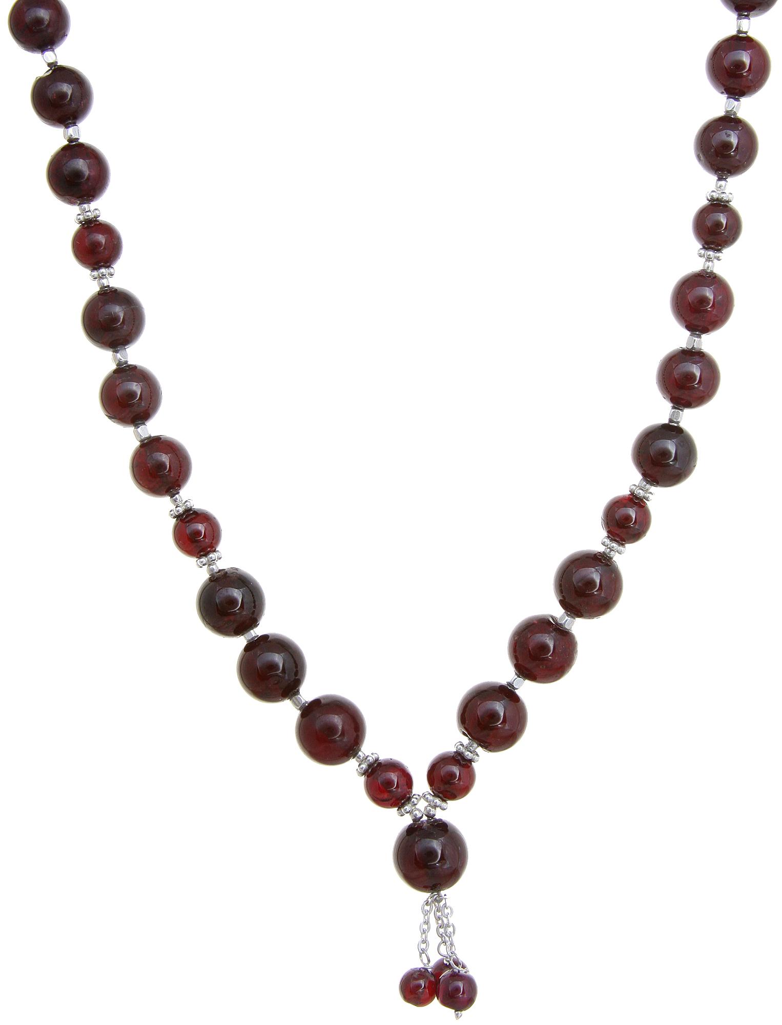 garnet beaded necklace