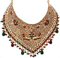 Faux Ruby and Emerald Polki Bridal Choker
