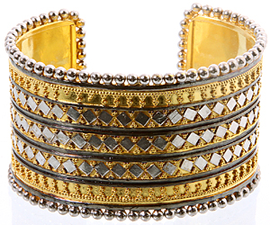Sterling Gold Plated Cuff Bangle