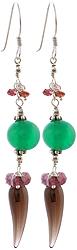 Gemstone Earrings (Garnet, Green Onyx, Amethyst and Smoky Quartz)