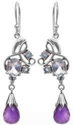 BT Earrings with Amethyst