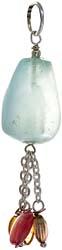 Aquamarine Tumble Pendant with Tourmaline