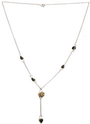 Cubic Zirconia Necklace with Peridot