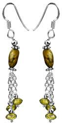 Labradorite with Peridot Earrings