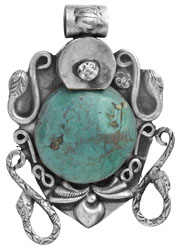 Turquoise Serpent Pendant