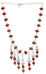 Carnelian Chandelier Necklace
