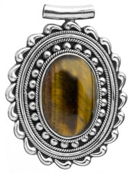 Tiger Eye Oval Pendant