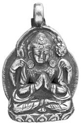 Chenrezig (Shadakshari Lokeshvara) Pendant