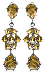 Faceted Citrine Post Earrings