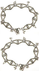 Sterling Chain Anklets (Price Per Pair)