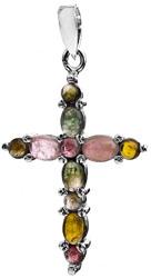 Tourmaline Cross Pendant