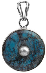 Turquoise Pendant with Pearl