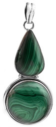 Twin Malachite Pendant
