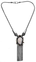 Rainbow Moonstone with Faceted Gemstone Necklace (Garnet, Amethyst, Citrine and Peridot)