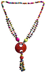 Multi-Color Ethnic  Necklace