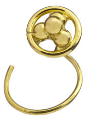 Four-Grains Gold Nose Stud
