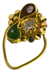 Meenakari Nose Ring with CZ